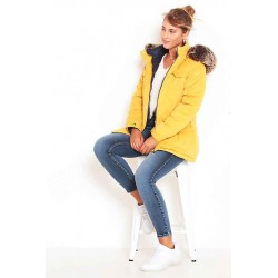 Parka Reversible Color Mostaza