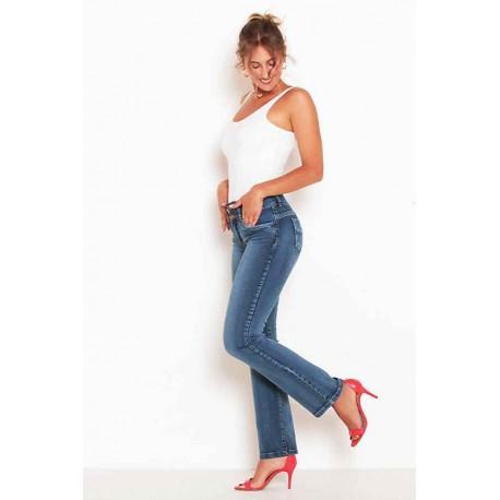 Jeans Pretina Ancha 2 Botones Recto