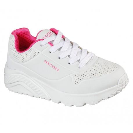 Zapatilla Urbana Skechers Blanca Uno Lite Niña